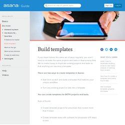 Build templates