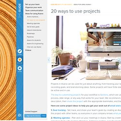 Guide · 20 ways to use projects