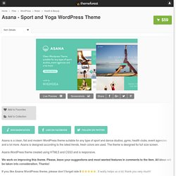 Asana - Sport and Yoga WordPress Theme - WordPress