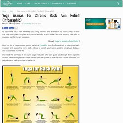 Yoga Asanas For Chronic Back Pain Relief! {Infographic}