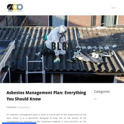 Asbestos Management Plan: Everything You Should Know