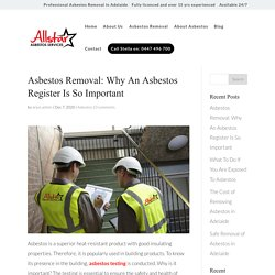 Why An Asbestos Register Is So Important