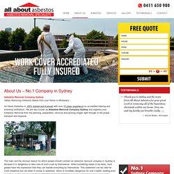Asbestos Removal Company Sydney