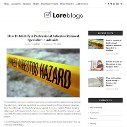 Asbestos Removal Specialist in Adelaide