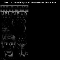 ASCII Art—Holidays and Events—New Year's Eve
