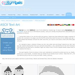 ASCII Art for Facebook, MySpace, etc. - text-symbols