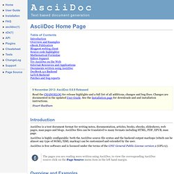 AsciiDoc Home Page