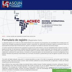 LACHEC ONLINE 2020. REWIRING INTERNATIONAL EDUCATION