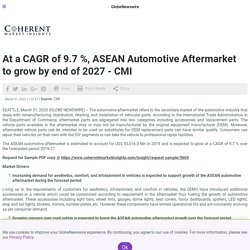 At a CAGR of 9.7 %, ASEAN Automotive Aftermarket to grow by end of 2027 - CMI