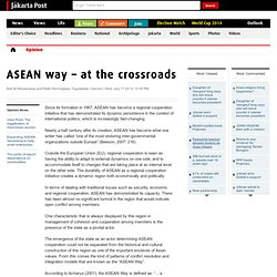 ASEAN way – at the crossroads