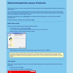 Ohjelmointiympäristön asennus Windowsiin