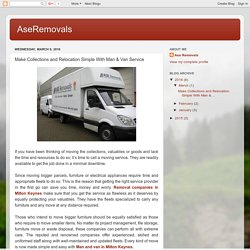 Make Collections and Relocation Simple With Man & Van Service
