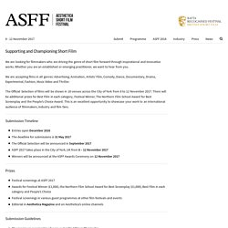 ASFF - Submission Guidelines