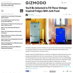 You'll Be Ashamed to Fill These Vintage-Inspired Fridges With Junk Food