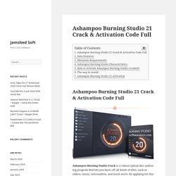 Ashampoo Burning Studio 21 Crack & Activation Code Full