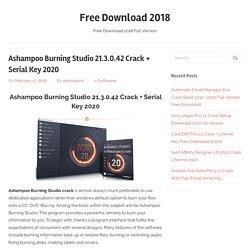 Ashampoo Burning Studio 21.3.0.42 Crack +Serial Key 2020