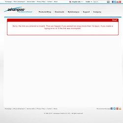 Demander Licence Version Complète Gratuite - Ashampoo® FireWall FREE