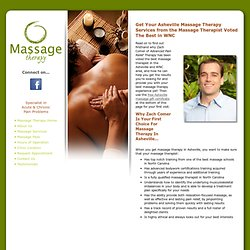 Asheville Massage Therapy - Free Asheville massage gift certificate