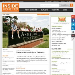 Ashford U's closure and what it says about for-profit higher ed