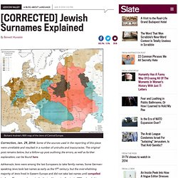 Origins Of Popular Jewish Surnames