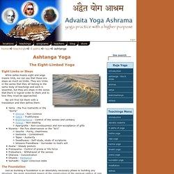 Ashtanga Yoga - 8 limbs