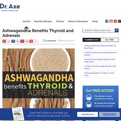 Ashwagandha Benefits Thyroid and Adrenals