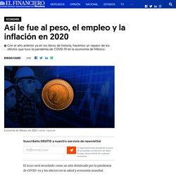 Así le fue al peso, el empleo y la inflación en 2020