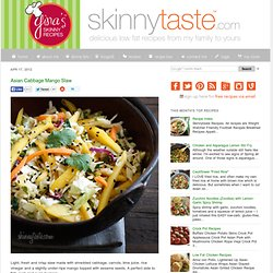 Asian Cabbage Mango Slaw
