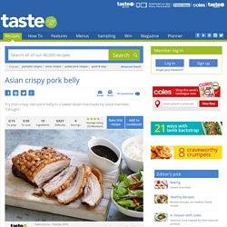 Asian Crispy Pork Belly Recipe