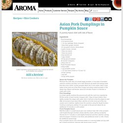 Asian Pork Dumplings in Pumpkin Sauce Recipe