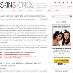 Asian Skin Care Guide: The Korean Skin Care Routine