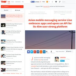 Asian Mobile App Line Opens its API and Moves to Host Apps and Content