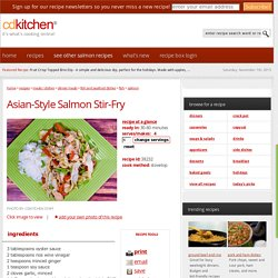 Asian-Style Salmon Stir-Fry Recipe from CDKitchen