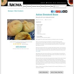Asian Steamed Buns Recipe