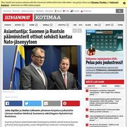 Asiantuntija: Suomen ja Ruotsin pääministerit ottivat selvästi kantaa Nato-jäsenyyteen