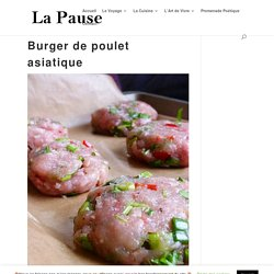Burger de poulet asiatique