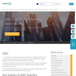 ASIC Search & ASIC Business Name Search