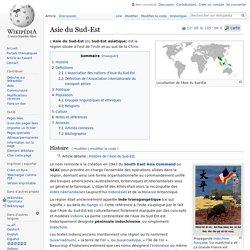 Asie du Sud-Est