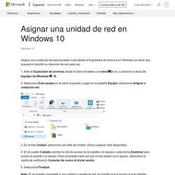 Asignar una unidad de red en Windows 10