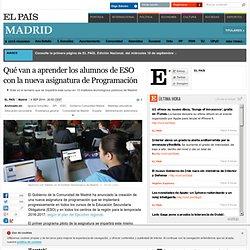 Qué van a aprender los alumnos de ESO con la nueva asignatura de Programación