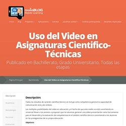 Uso del Video en Asignaturas Cientifico-Técnicas