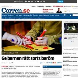 Ge barnen rätt sorts beröm - Åsikter - Corren.se - Nyheter Linköping Östergötland