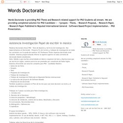 Asistencia Investigación Papel de escribir in mexico