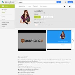 Speaktoit Assistant - Apps on Android Market