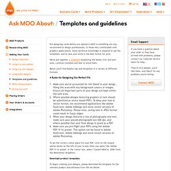 Ask MOO About: Templates and guidelines