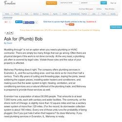 Ask for (Plumb) Bob