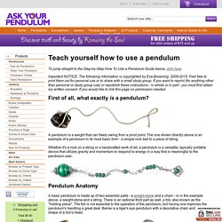 Ask Your Pendulum - How to Use a Pendulum