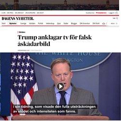 Donald Trump anklagar tv för falsk åskådarbild vid installationen - DN.SE
