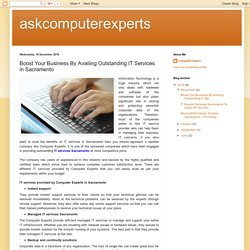 askcomputerexperts: Boost Your Business By Availing Outstanding IT Services in Sacramento