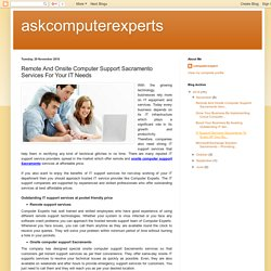 askcomputerexperts: Remote And Onsite Computer Support Sacramento Services For Your IT Needs